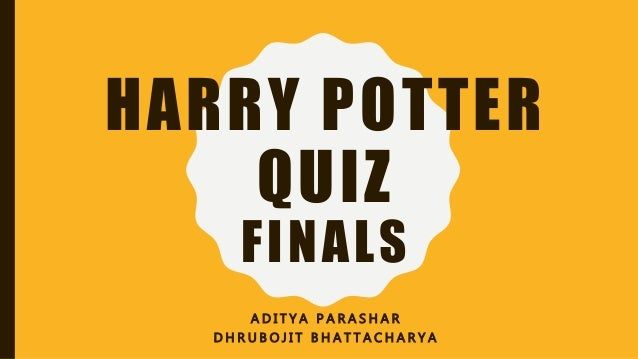 image regarding Harry Potter Quiz Printable referred to as Harry Potter Quiz - Finals