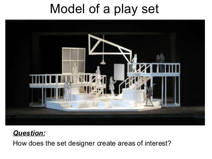 Model of a play set <ul><li>Question:   </li></ul><ul><li>How does the set designer create areas of interest?  </li></ul>