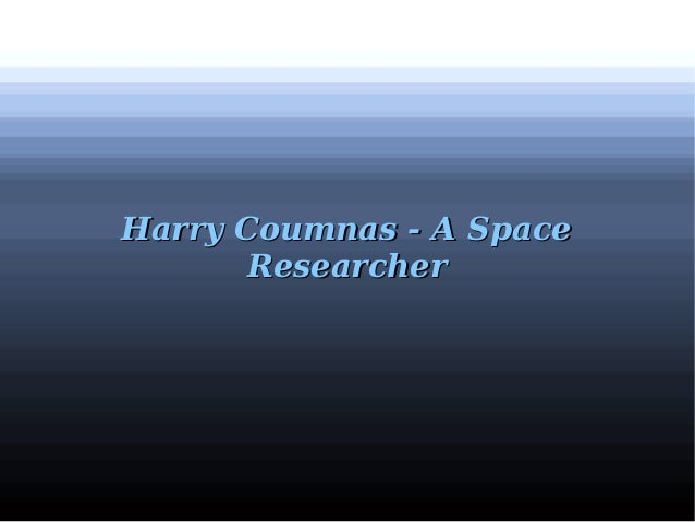 Harry Coumnas - A SpaceHarry Coumnas - A Space ResearcherResearcher