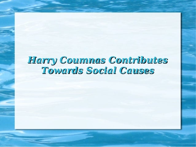 Harry Coumnas Contributes Towards Social Causes