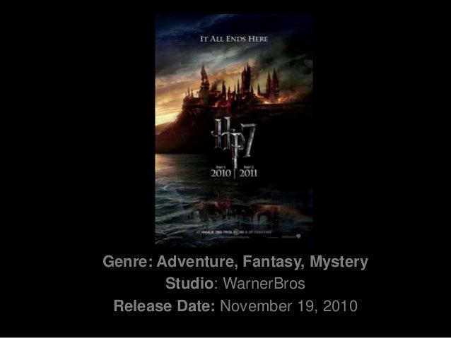Genre: Adventure, Fantasy, Mystery<br />Studio:WarnerBros<br />Release Date: November 19, 2010<br />