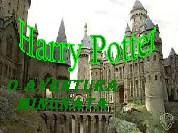 O AVENTURA MINUNATA Harry Potter