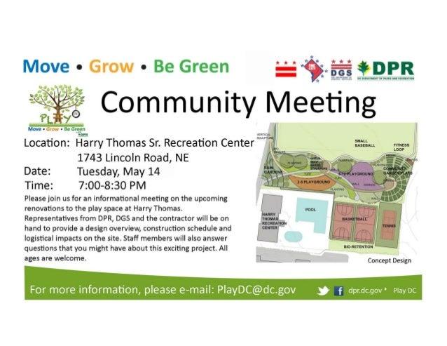 harry thomas community meeting flyer