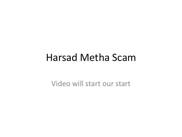 Harsad Metha Scam Video will start our start