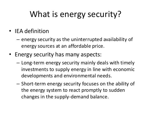 energy security Energy policy is an international peer-reviewed journal addressing the policy implications of energy supply and use from their economic, social.