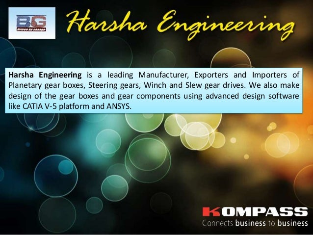 Harsha engineering | Manufacturer, Exporters and Importers