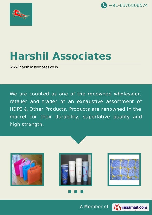 +91-8376808574  Harshil Associates www.harshilassociates.co.in  We are counted as one of the renowned wholesaler, retailer...
