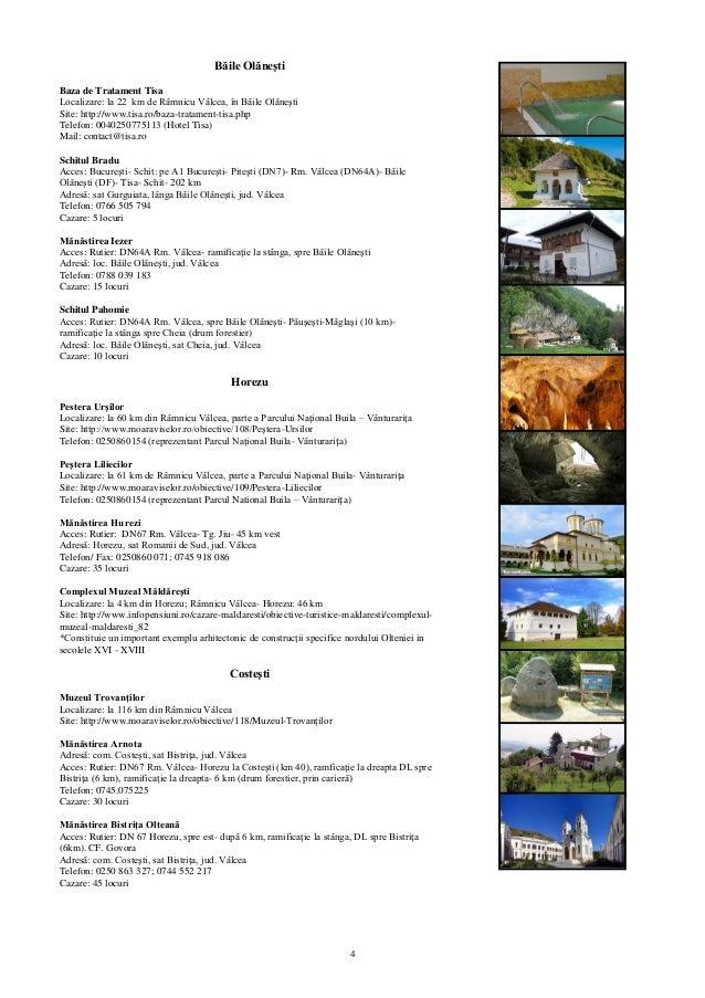 Harta Turistica Judeţul Valcea