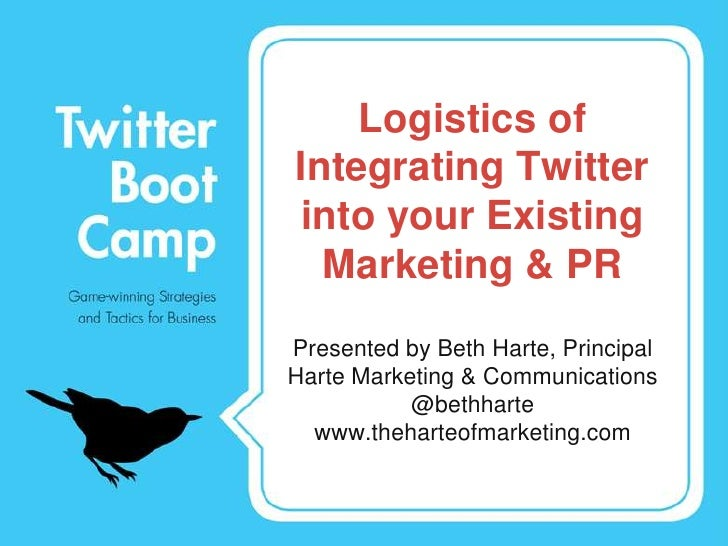 Logistics of Integrating Twitter into your Existing Marketing & PR