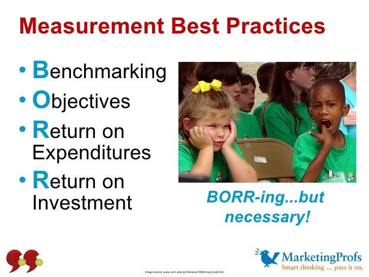 <ul><li>B enchmarking </li></ul><ul><li>O bjectives  </li></ul><ul><li>R eturn on  Expenditures </li></ul><ul><li>R eturn ...