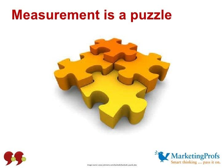 Measurement is a puzzle Image source: www.askmario.com/backtalk/backtalk_puzzle.php