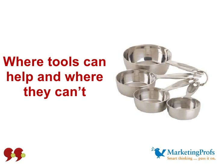 Where tools can help and where they can't