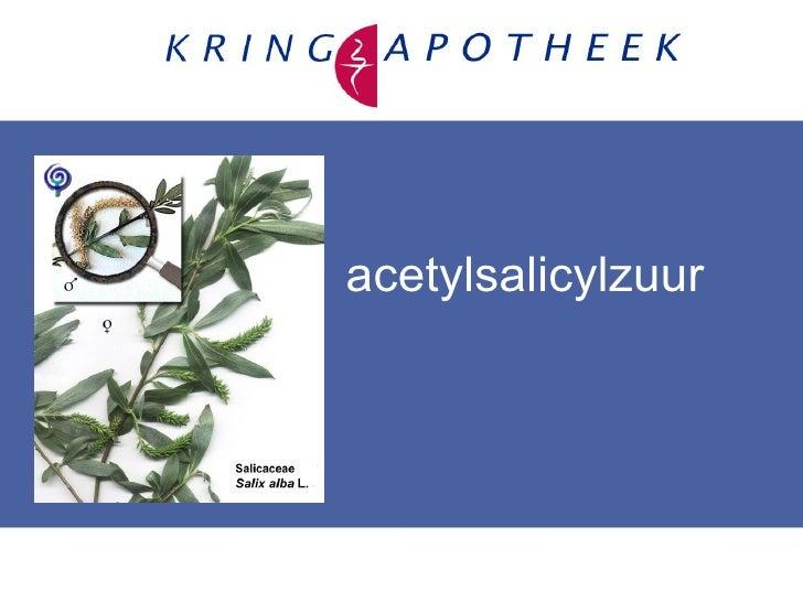 acetylsalicylzuur