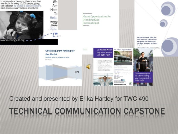Created and presented by Erika Hartley for TWC 490<br />Technical communication capstone<br />