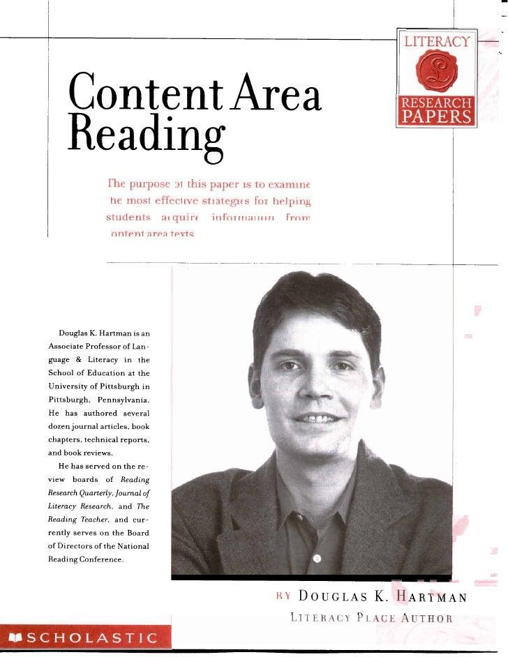 Hartman 2001 Content Area Reading