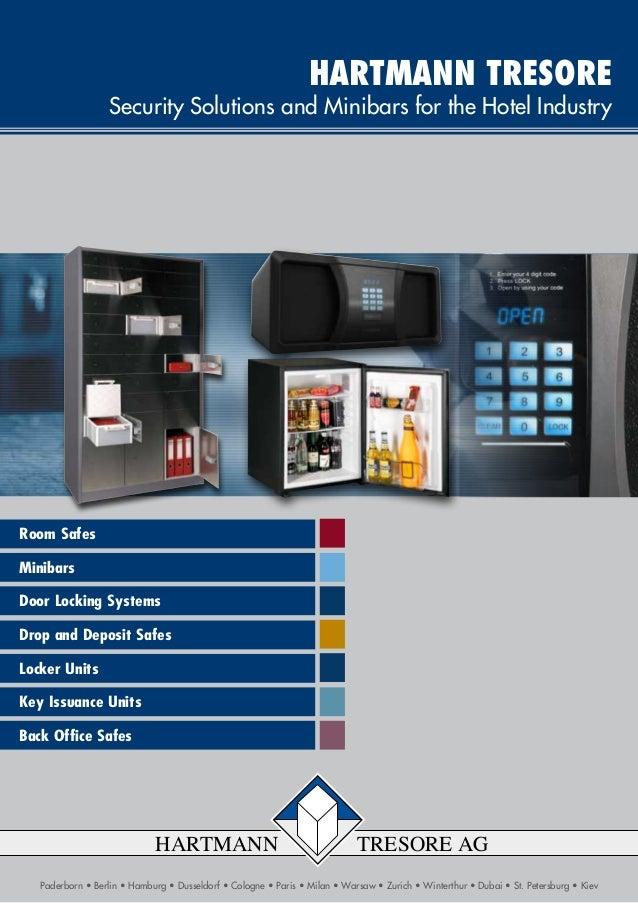 Minibars Door Locking Systems Drop and Deposit Safes Room Safes Locker Units Paderborn • Berlin • Hamburg • Dusseldorf • C...
