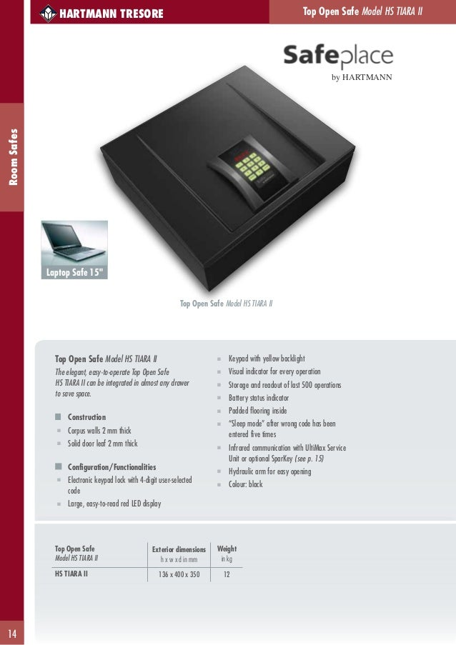 Hartmann Tresore Hotel Catalogue 2013
