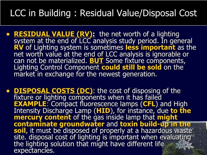 Life Cycle Cost Lcc For Sustainable Building