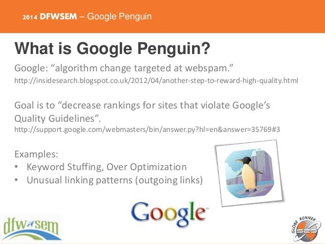 Google Algorithm Update: Pandas, Penguins, and Recovering from Penalt… slideshare - 웹