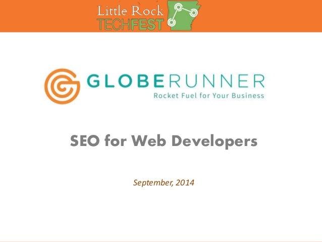 SEO for Web Developers  September, 2014