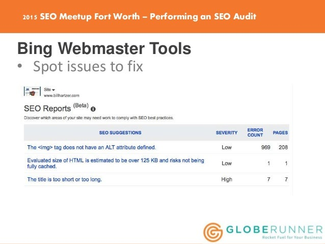performing an seo audit of your website
