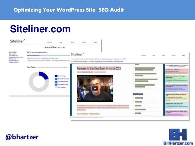 Optimize Your WordPress Site: How to do an SEO Audit by Bill Hartzer