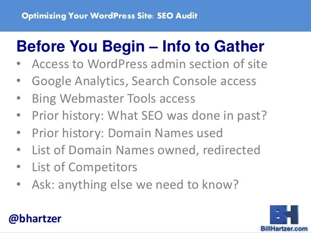 Optimize Your WordPress Site: How to do an SEO Audit by ...