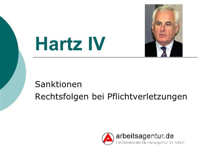 Hartz IV Sanktionen Rechtsfolgen bei Pflichtverletzungen