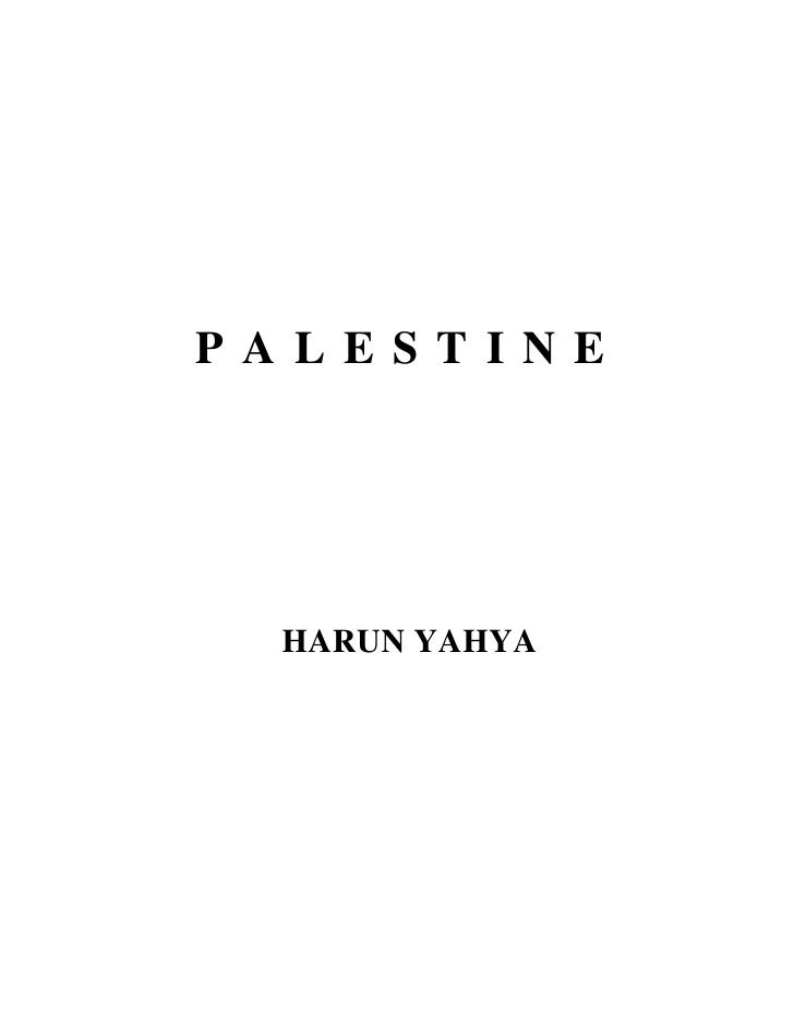 PALESTINE      HARUN YAHYA