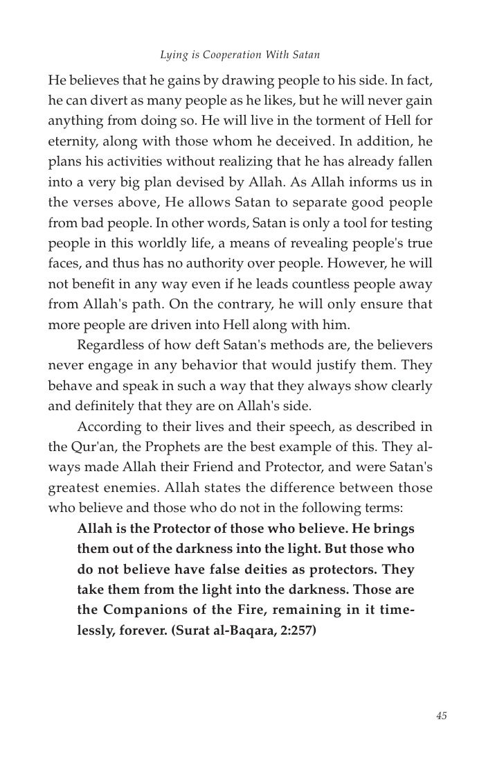 harun yahya islam what the quran says about liars and their methods