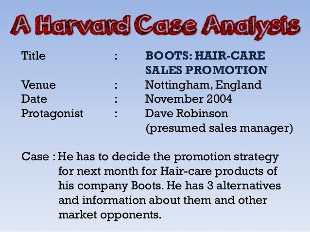 Boots: Hair-Care Sales Promotion Case Solution