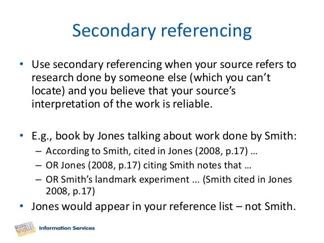 Citing referencing harvard 40 secondary referencing ccuart Image collections