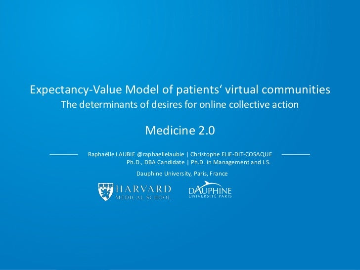Expectancy-Value Model of patients' virtual communities     The determinants of desires for online collective action      ...