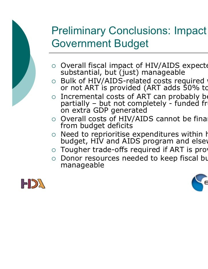 Economic consequences of aids hiv