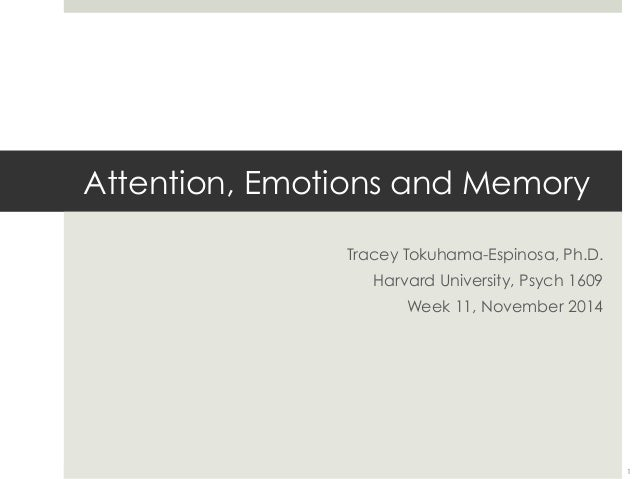 emotions and memory In other words, prefrontal activity did not stem from the working memory task alone or by the mood ensuing from the viewing of the video, but resulted from an interaction between cognition and emotion.