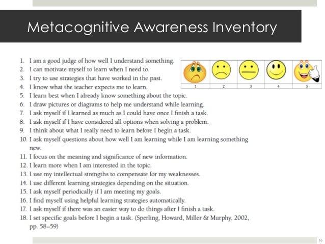 metacognitive knowledge definition