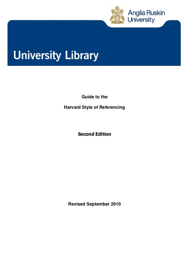 harvard referencing 2010 This guide introduces you to the harvard referencing style, which uses an  map  of the easternmost region of são nicolau' (ramalho et al, 2010:p532.
