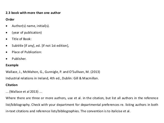 Harvard referencing endnote applications 22 23 book with more than one author ccuart Images