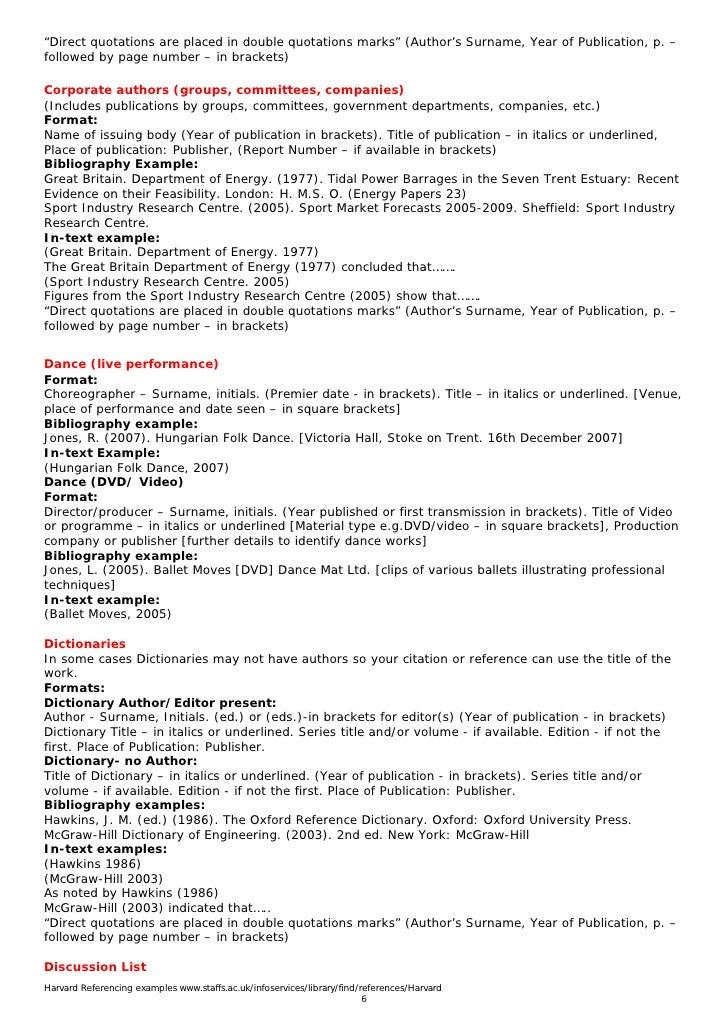Cite Dissertation Harvard Style  Harvard Style Resume
