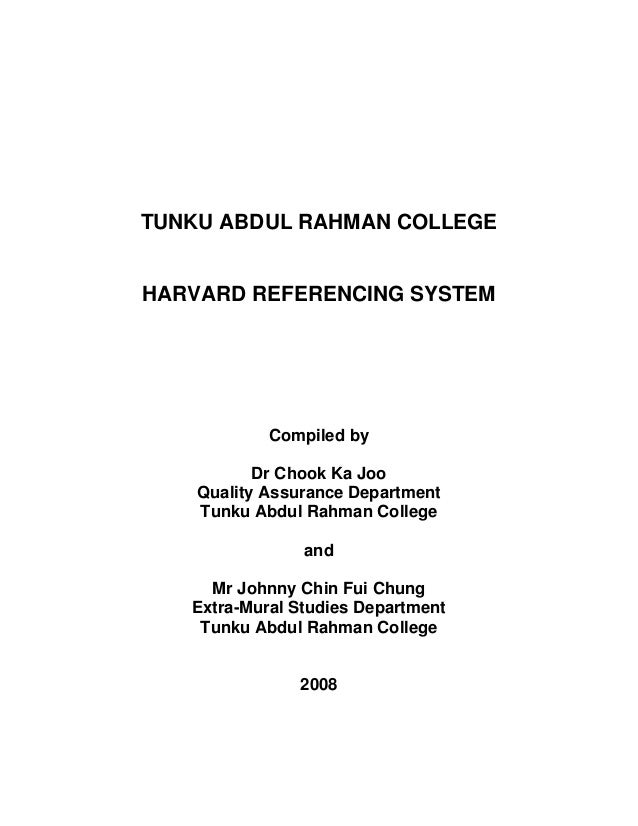 Referencing with Harvard: Thesis or dissertation