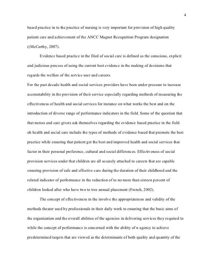 Ebp nursing essay