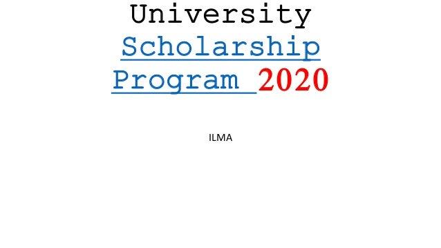 University Scholarship Program 2020 ILMA
