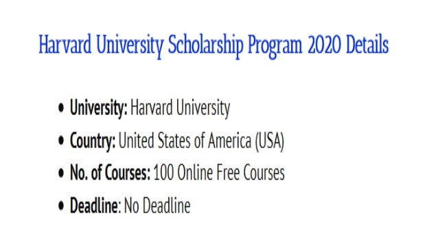 Harvard university scholarship program 2020 Slide 2