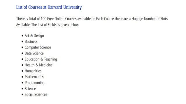 Harvard university scholarship program 2020