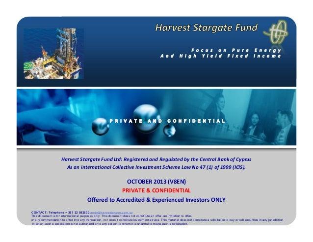 Harvest stargate fund version october en8 2013
