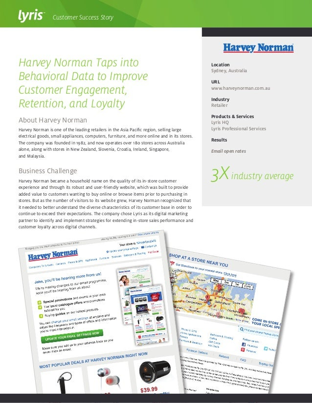 About Harvey Norman Harvey Norman is one of the leading retailers in the Asia Pacific region, selling large electrical goo...