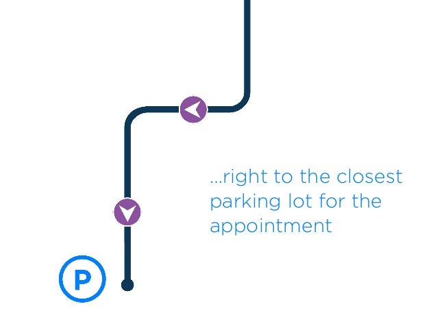 …right to the closest parking lot for the appointment