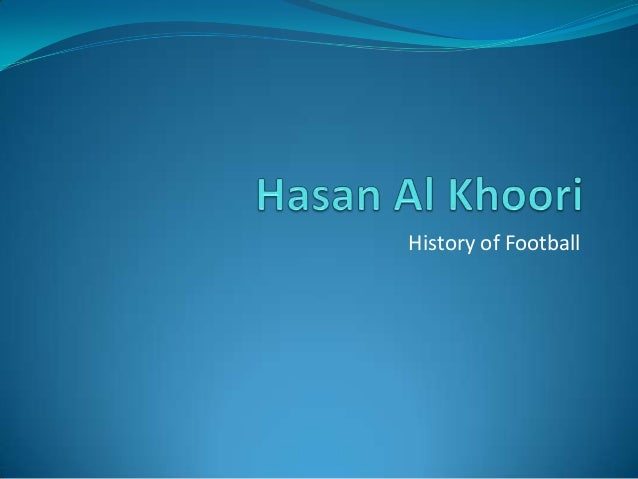 history of football 4 essay Essay on football rules the rules of football football is one of the most popular sports in american history and american football for this essay will be.