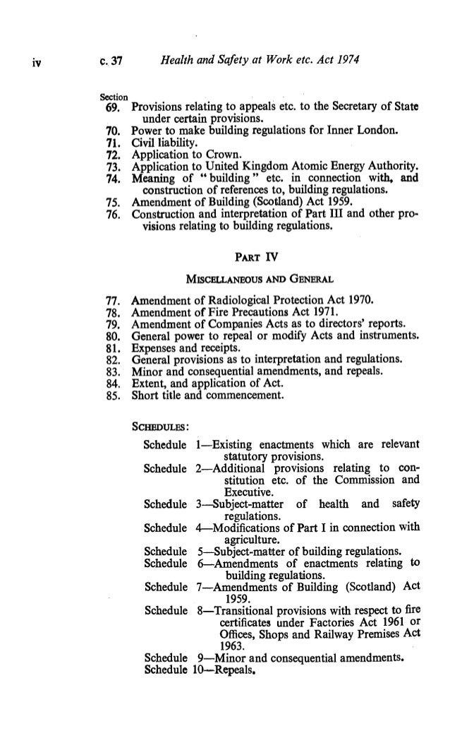 health and safety at work etc act 1974 construction essay The health and safety at work act 1974 construction essay the health and safety at work act, 1974  provisions should be made regarding hazardous chemicals etc.