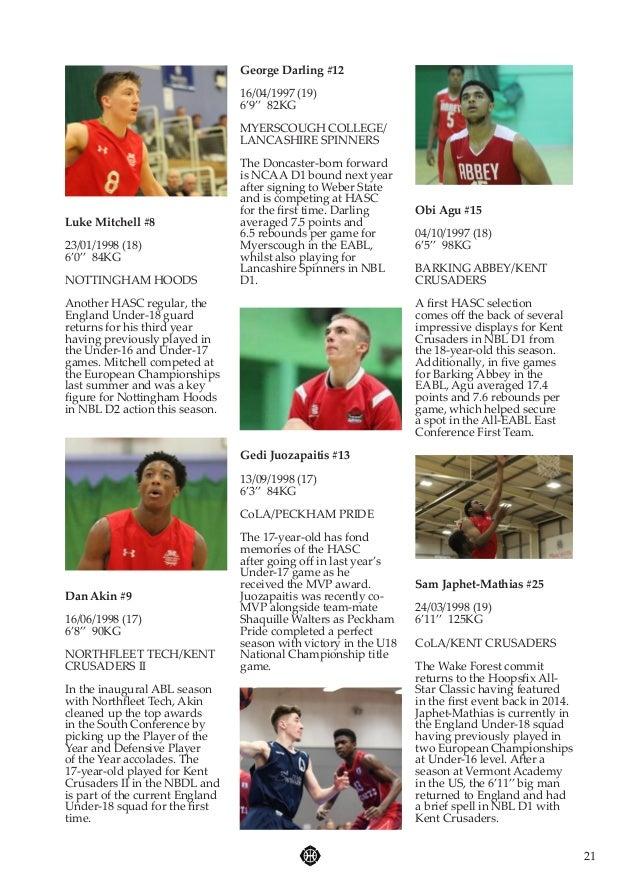 Hoopsfix All-Star Classic 2016 Programme